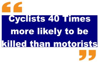 Cyclist 40 times killed blue