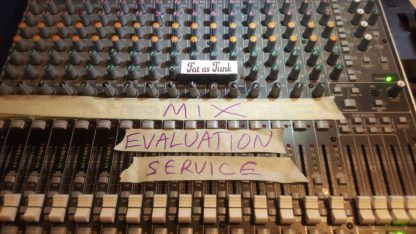 Pro mix evaluation service by Fat As Funk mastering