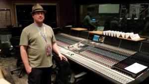 Loz in the control room Capitol Studio A, Los Angeles