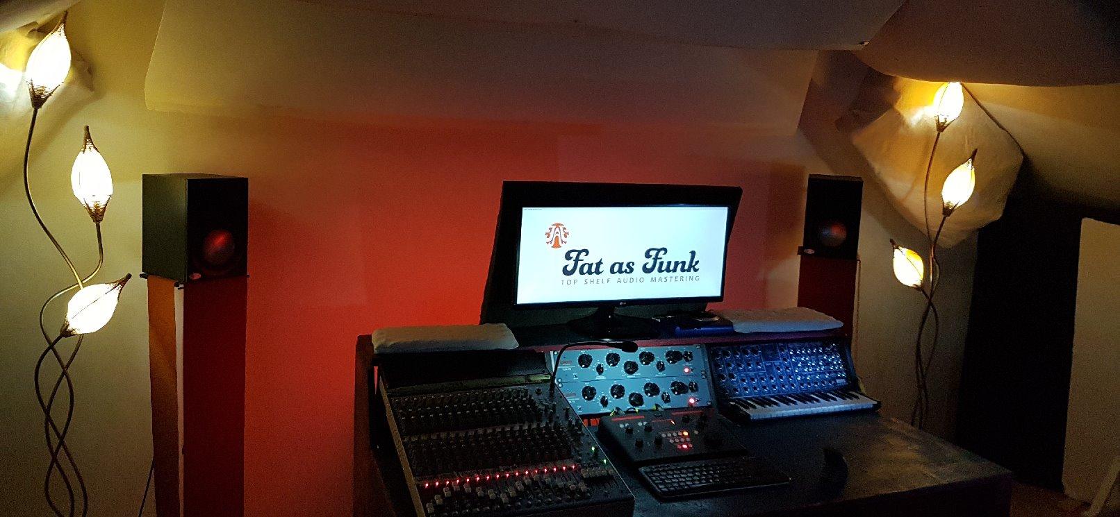 professional mastering studio control room fat as funk