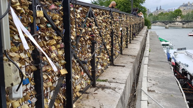 Lovers Locks At The Pont Neuf