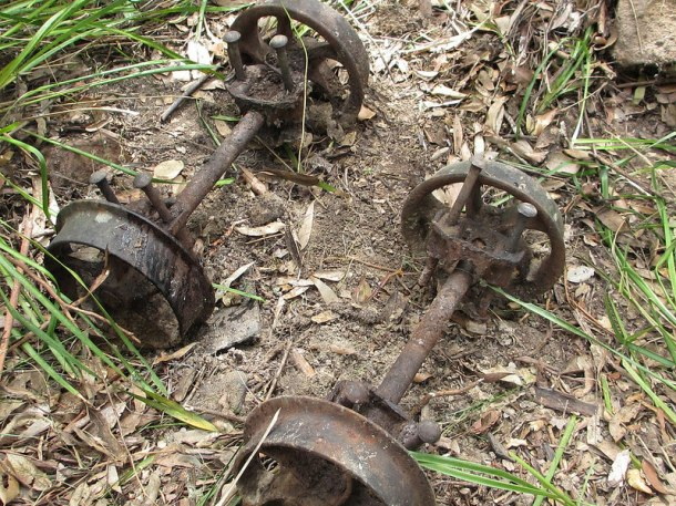 Wheel set from a mining skip (photo Philip Hammon)