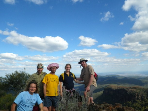 The group on top of the Camel's Hump, looking south.