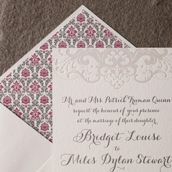 Galena by Smock, Wedding Invitation, Letterpress with Pearl Foil Details