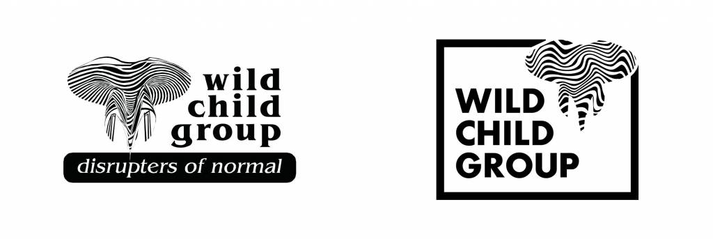 Wild Child Group logo before and after