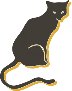 illustration of a black cat