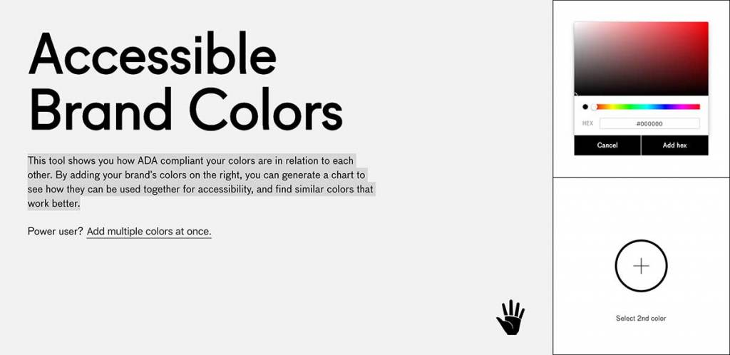 Visually accessible color tool