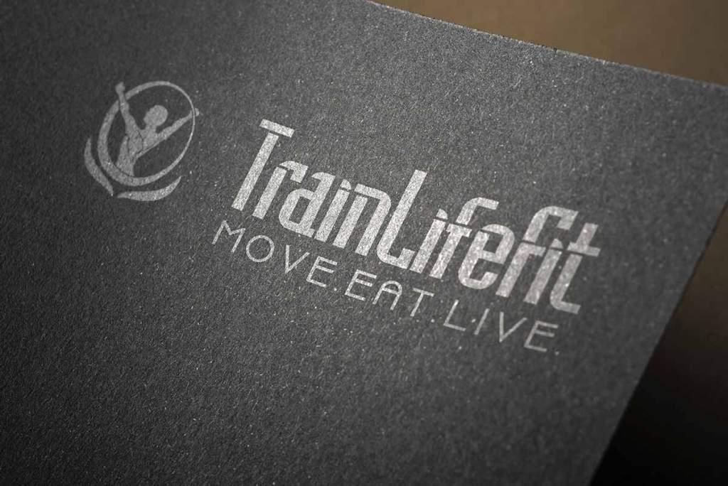TrainLifeFit logo mockup