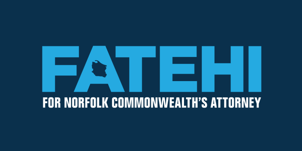 Ramin Fatehi for Norfolk Commonwealth's Attorney