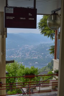 A mountain view of Lake Como