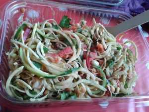 Raw courgette salad