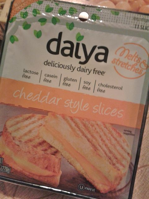Cheddar style slices by daiya