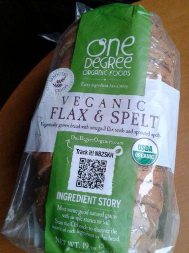 Veganic flax & spelt bread by One Degree