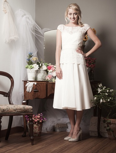 Vegan cotton wedding dress by Tammam
