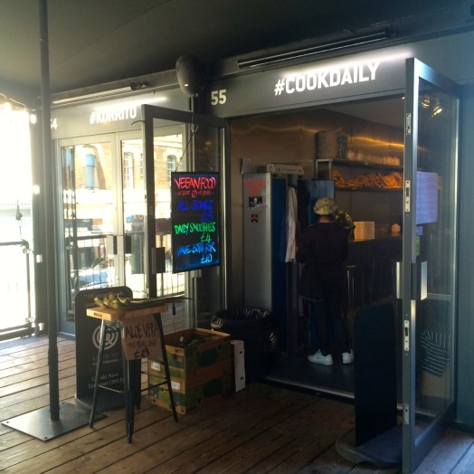 front of Cook Daily Shoreditch boxpark