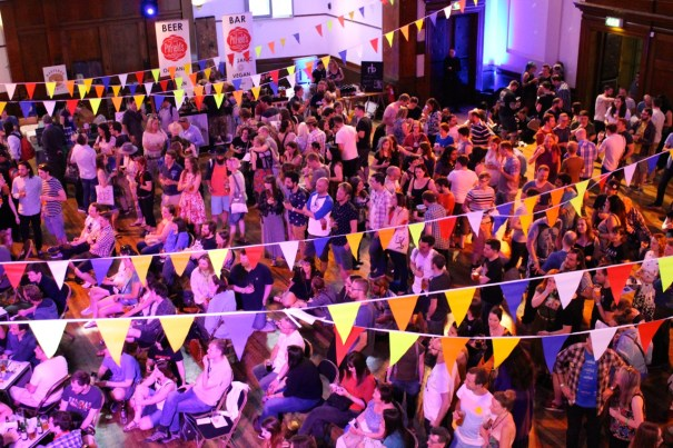 Crowd main hall