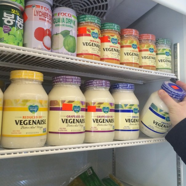 vegenaise in fridge