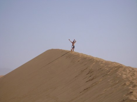 Running on Dune 7 in Namiba