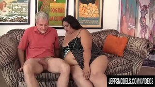 Huge Harlot Lorelai Givemore Devotes Her Mouth and Pussy to Pleasing a Dude