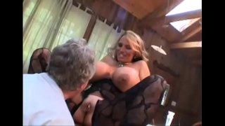 Swingeing maiden caresses fat python