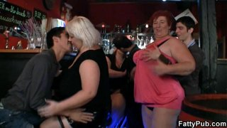 Three fatty join dirty sex party