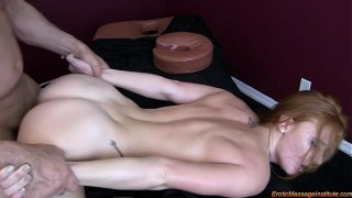 Erotic Massage 75: Natural Redhead Squirting