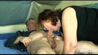 Slutty German milf suck a hard dick