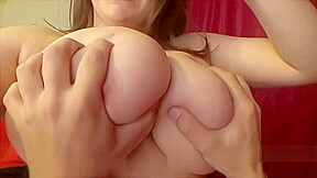 Samanta Lily takes off her T shirt and gets her huge tits groped