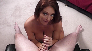 Charlee Chase sucks cock for a sloppy facial