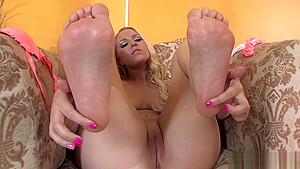 Vanessa Cage is all the rage in white nylons