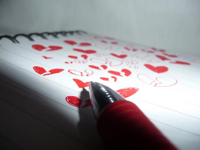 broken hearts paper