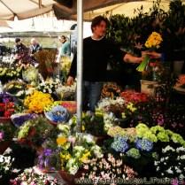 Flower vendor in Campo de Fiori
