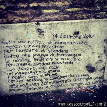 Poem in Piazza del Popolo