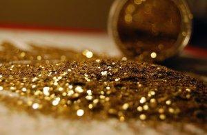 spilled glitter