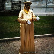 Street actor in Rome