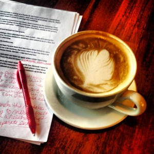 coffee writing