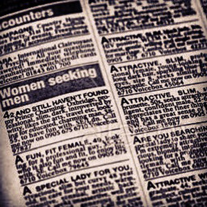 women seeking men personal ads in a newspaper dating section in the uk