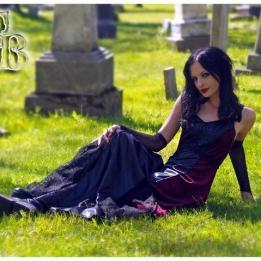 Gothic cemetery shoot