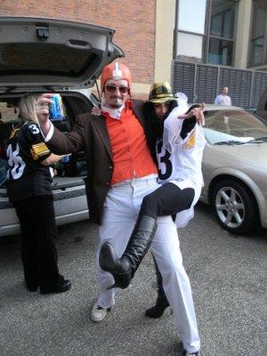 Steelers Browns tailgating wedding