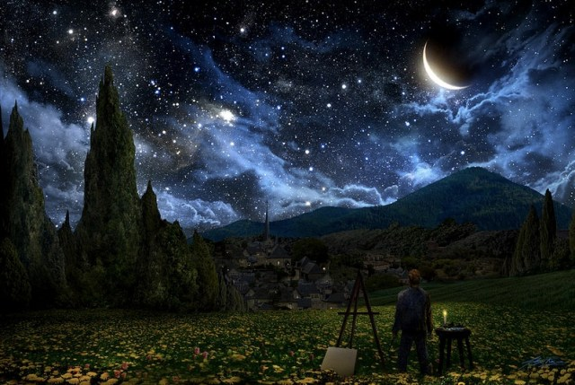 van gogh starry night sky inspire