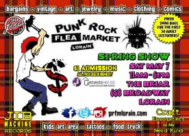 Spring Punk Rock Flea Market Lorain flyer side 1 design