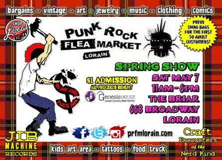 Spring Punk Rock Flea Market Lorain flyer side 1 design