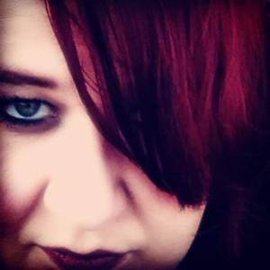 brooding burgundy hair