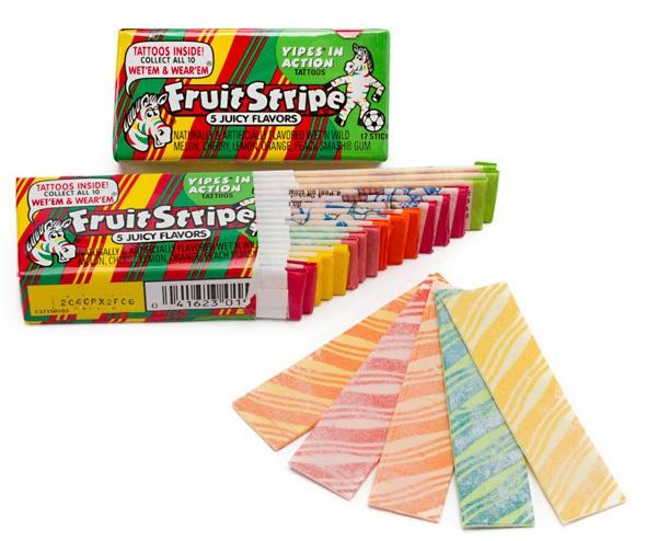 fruit stripe gum flavors sticks