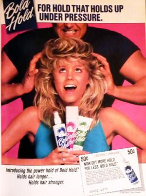 Bold Hold 80s hair spray addict