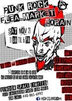 Original flier design for Punk Rock Flea Market Lorain