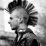 hot mohawk punk rock guys 80s hair spray addict