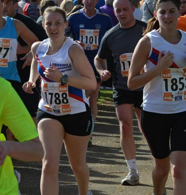 Tamsyn's sprint finish at Eastleigh 10k