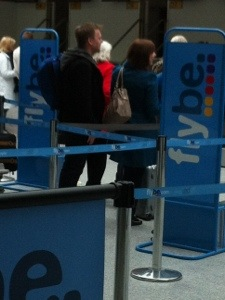 Queuing at the airport