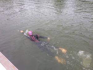 A photo that Ant took of me swimming at HOWSC during our triathlon training weekend